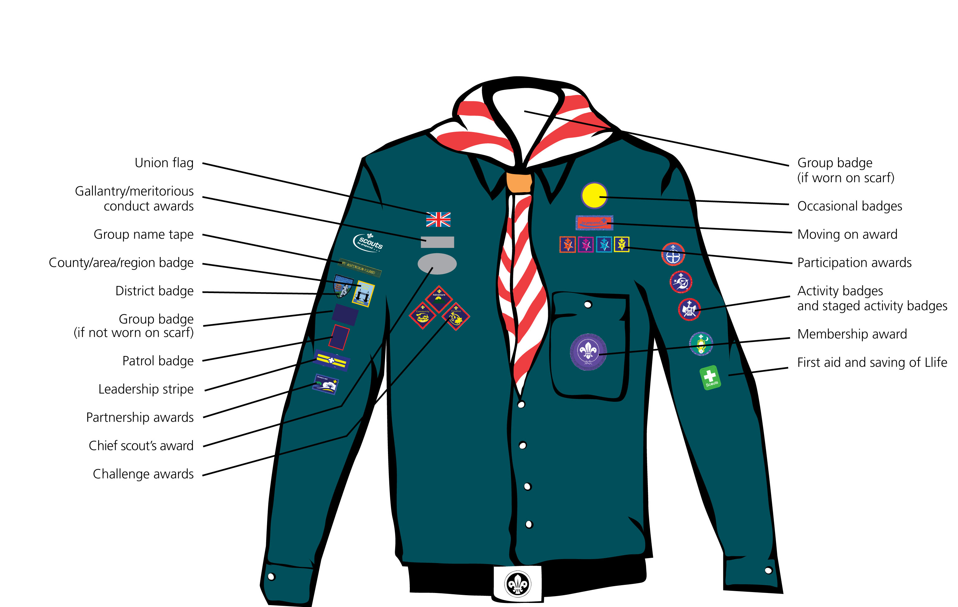 Diagram Showing Scout Uniform